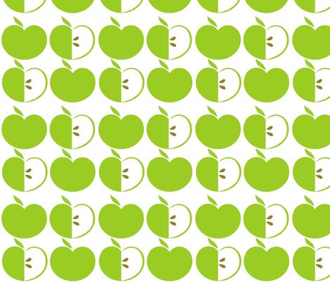 Green Apples fabric by simplysweet on Spoonflower - custom fabric