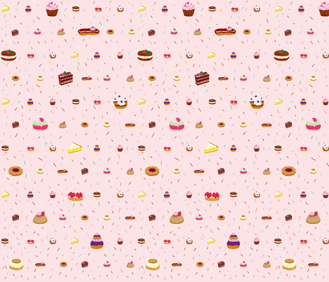 Pâtisseries fabric by made_in_shina on Spoonflower - custom fabric