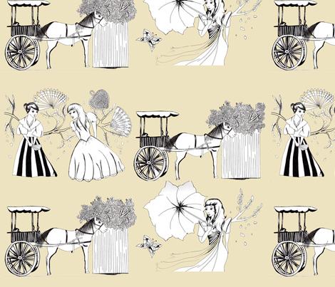 Maria Clara Toile fabric by michiela on Spoonflower - custom fabric
