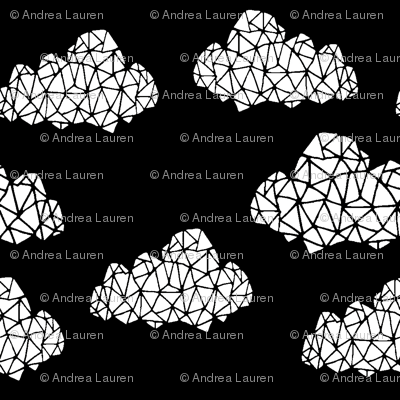 Geometric Cloud - Black & White by Andrea Lauren