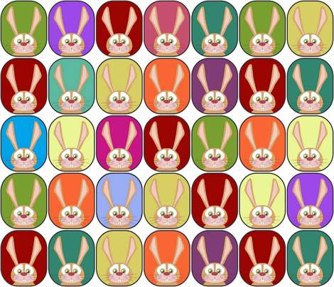 rainbow rabbits fabric by scrummy on Spoonflower - custom fabric