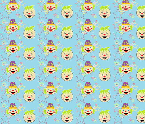 clowns_and_jokers fabric by teenya on Spoonflower - custom fabric