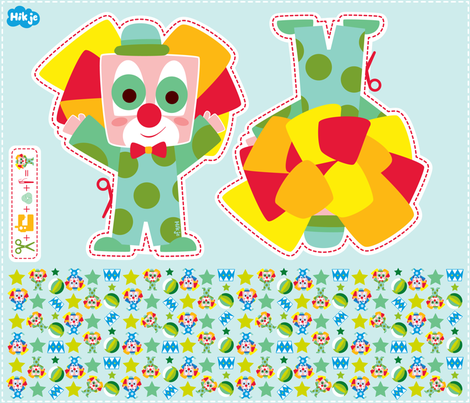Clown fabric by hikje on Spoonflower - custom fabric