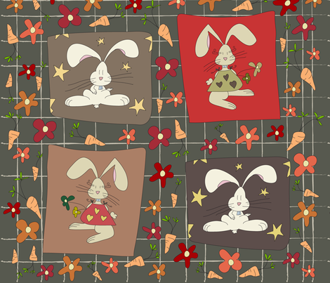 [Big] - Carrot's Prayer fabric by catru on Spoonflower - custom fabric