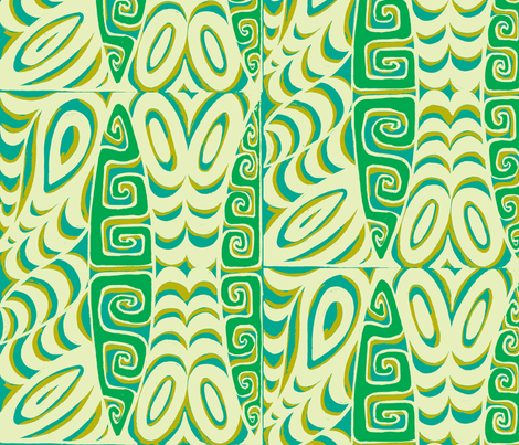 Abstarctiva, Tsunami, beach fabric by sophista-tiki on Spoonflower - custom fabric