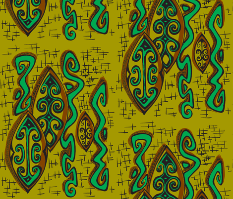 Abstarctiva,  Popua,  fabric by sophista-tiki_by_dawn_frasier on Spoonflower - custom fabric