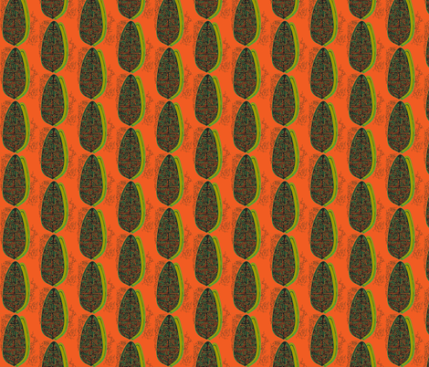 The Polynesian without in Orange fabric by sophista-tiki_by_dawn_frasier on Spoonflower - custom fabric