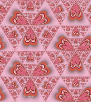 Cinnamon Hearts Abstract © Gingezel™ 2011
