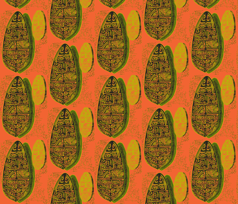The Polynesian With in Orange fabric by sophista-tiki_by_dawn_frasier on Spoonflower - custom fabric