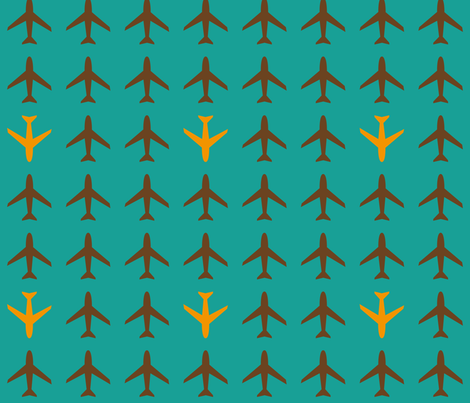 Airplane  fabric by heimatkinder on Spoonflower - custom fabric