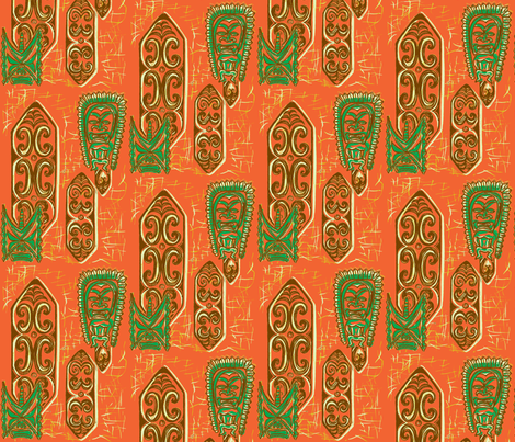 Old School,Nu Ku Gu Oru fabric by sophista-tiki on Spoonflower - custom fabric