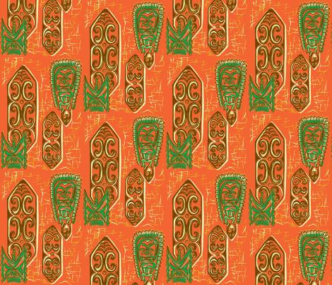 Old School,Nu Ku Gu Oru fabric by sophista-tiki_by_dawn_frasier on Spoonflower - custom fabric