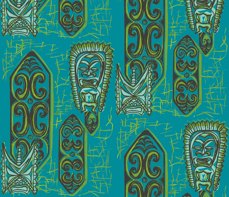 Nu ku Gu Blu fabric by sophista-tiki on Spoonflower - custom fabric