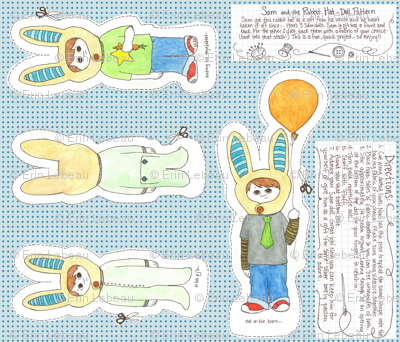 Sam & the RABBIT HAT (doll pattern)