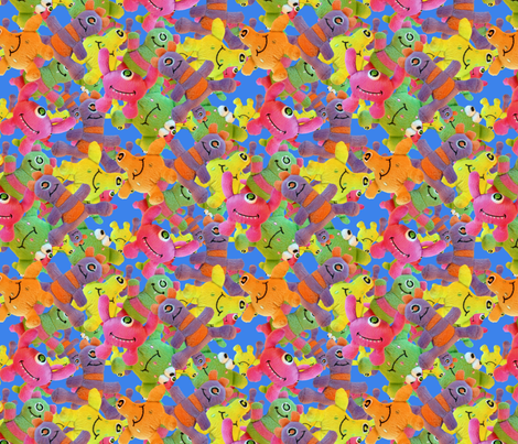 Furry little monsters fabric by hannafate on Spoonflower - custom fabric