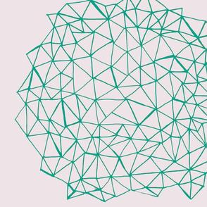 teal geometric orb