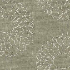 Lovely Linen Dahlias