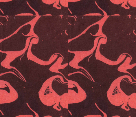 Retro Marbled Design 3 fabric by katehasteddesigns on Spoonflower - custom fabric