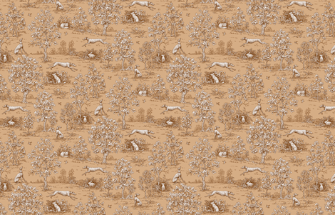 Brown Reverse Greyhound Toile ©2010 by Jane Walker fabric by artbyjanewalker on Spoonflower - custom fabric