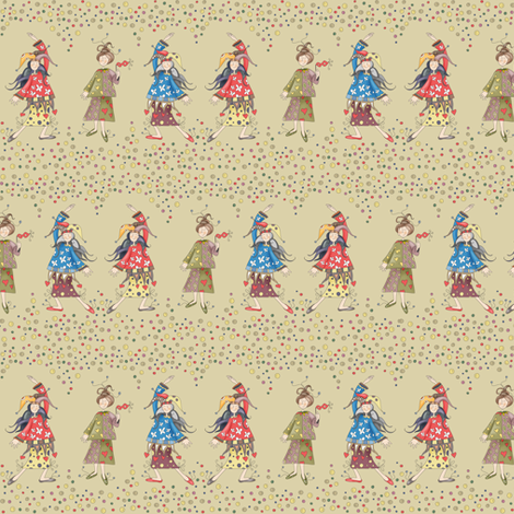 Lady Jokers - SMALL fabric by catru on Spoonflower - custom fabric