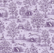 Purple  Reverse Greyhound Toile 2010 by Jane Walker