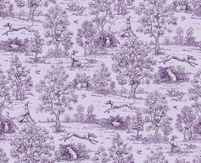 Purple  Reverse Greyhound Toile ©2010 by Jane Walker