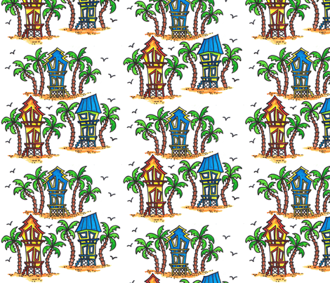 Beach House Fun fabric by joycemj on Spoonflower - custom fabric