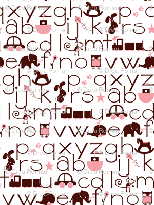 ABC Baby - Brown/Pink
