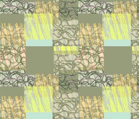 Squares in a chain fabric by susanou on Spoonflower - custom fabric