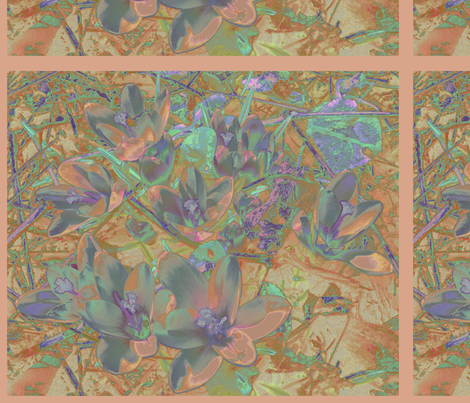 Autumn Crocus © Gingezel™ 2010 fabric by gingezel on Spoonflower - custom fabric