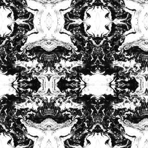 suminagashi black 10 x 12