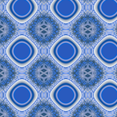 Scillia in Blue © 2009 Gingezel™ Inc. fabric by gingezel on Spoonflower - custom fabric