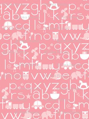 ABC Baby - Pink/White