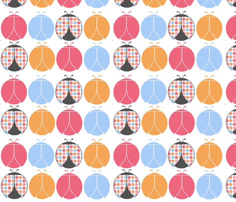 Sweet Ladybugs fabric by simplysweet on Spoonflower - custom fabric