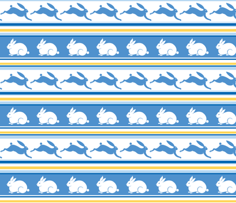 Arctic Rabbit fabric by havemorecake on Spoonflower - custom fabric