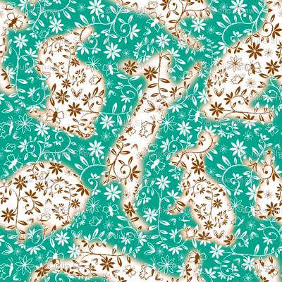 Lapins au milieu de mille fleurs