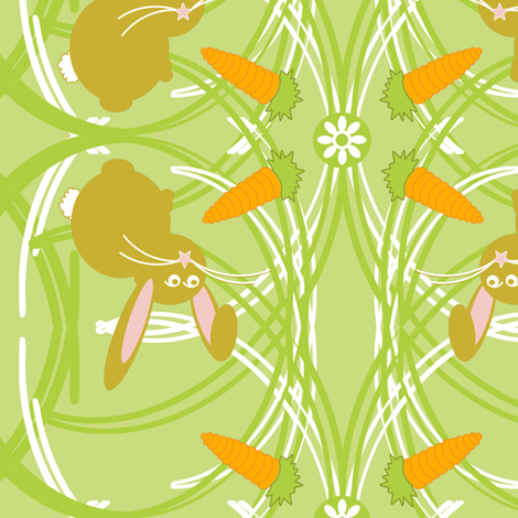 hungry bunny fabric by stsannette on Spoonflower - custom fabric