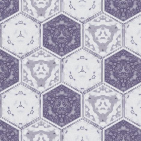Hexagonal Tile Geometric in crocus purple, small fabric by gingezel on Spoonflower - custom fabric