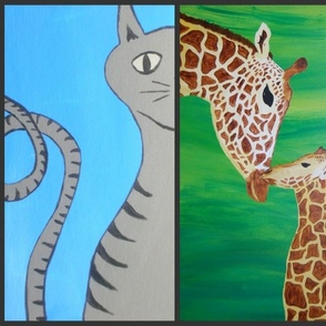 kitty and giraffes