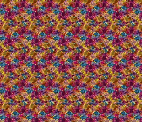 Flower Zig Zag fabric by coloroncloth on Spoonflower - custom fabric