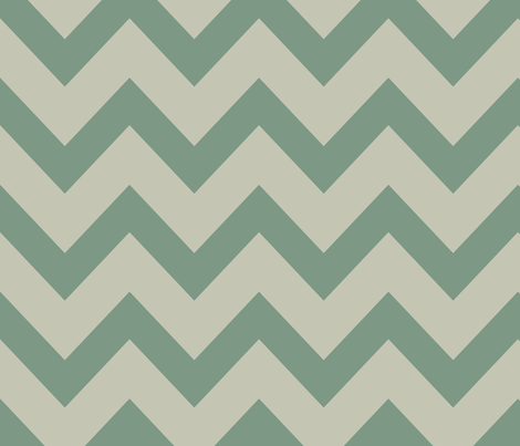 chevron - gray & laurel green fabric by ravynka on Spoonflower - custom fabric