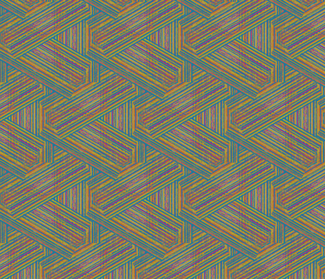 Plaid Zig Zag fabric by coloroncloth on Spoonflower - custom fabric