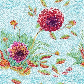 _Dahlias_Pointillism_E