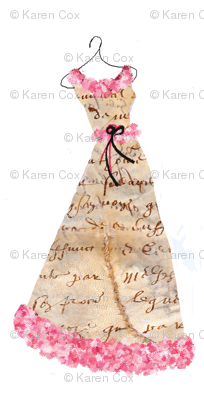 A French Script Frock