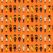 Multicultural_Children_Rows_Orange_background