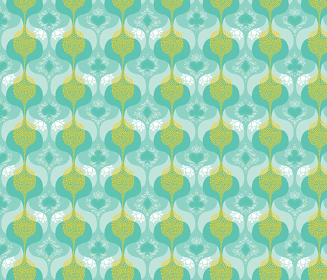 Carnivale Small-scale Blue fabric by zesti on Spoonflower - custom fabric