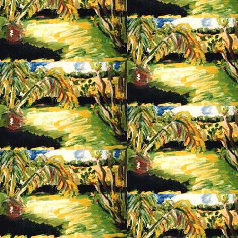 Abidjan Backyard - view 2 fabric by susaninparis on Spoonflower - custom fabric