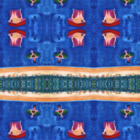 Morning Swim, scarf version fabric by susaninparis on Spoonflower - custom fabric