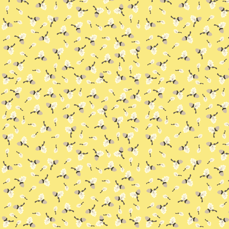 yellow_acorn fabric by featheredneststudio on Spoonflower - custom fabric