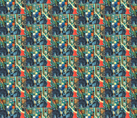 The Night She Learned to Dance  fabric by susaninparis on Spoonflower - custom fabric